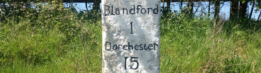 Blandford to Dorchester signage