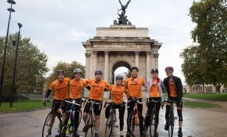 Team Trafalgar at Wellington Arch
