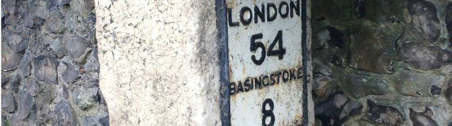 Basingstoke to London signage