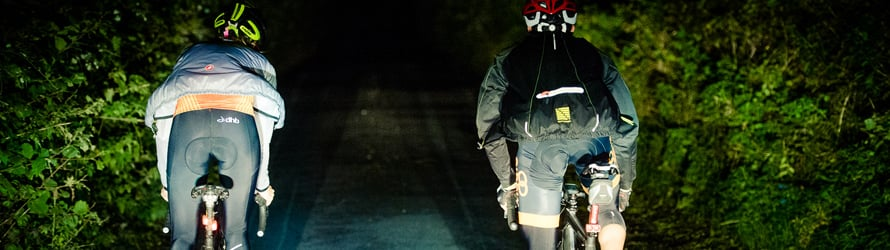 Riders sticking together on the night leg